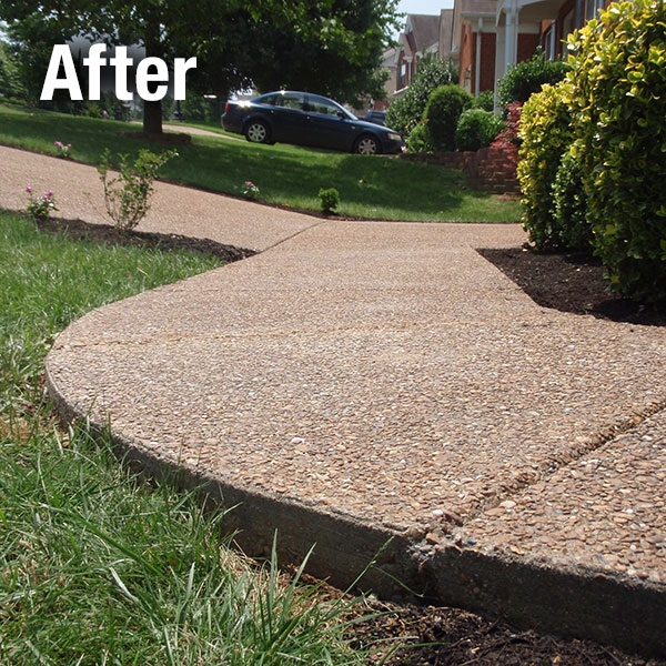 Cleveland West Concrete Sidewalk Leveling after