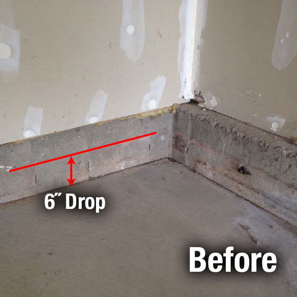 Cleveland West​ Concrete Floor Leveling Before