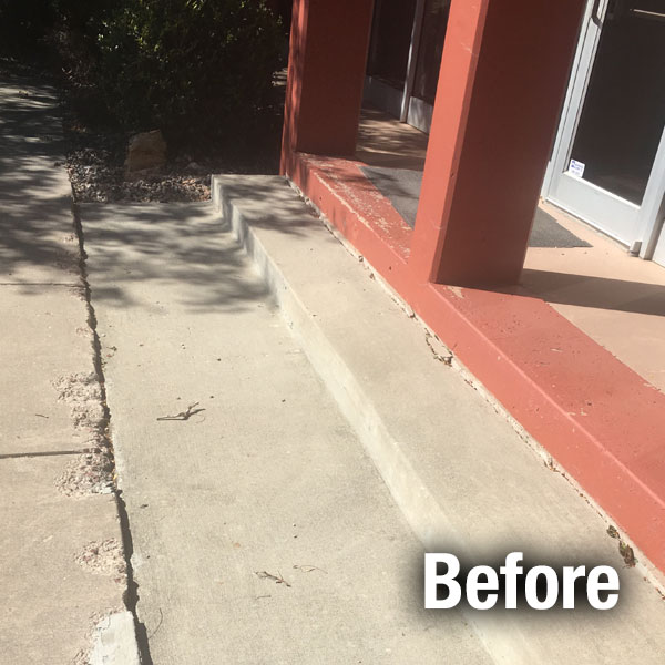 Commercial Concrete Repair - Cleveland West - Before