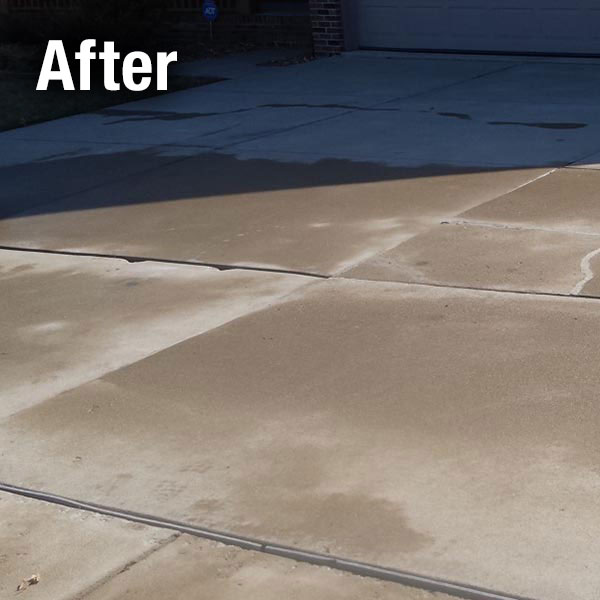Cleveland West Concrete Driveway Leveling After