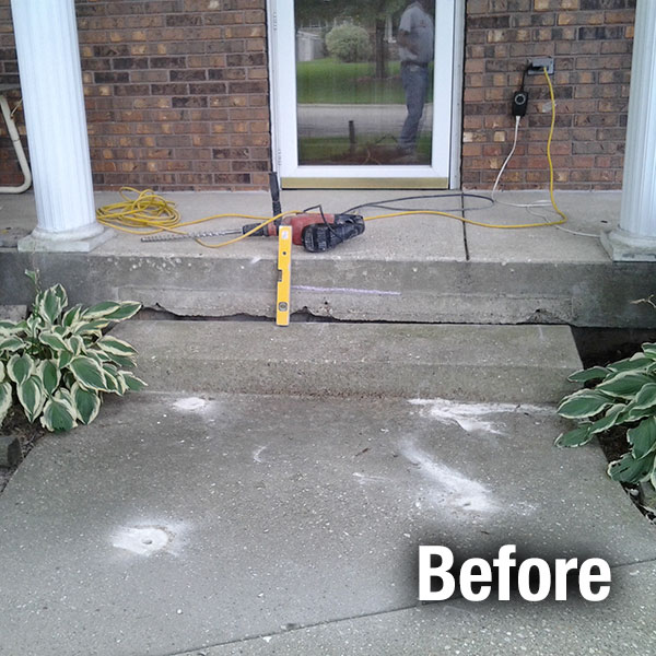 Cleveland West Concrete Step Repair - Before